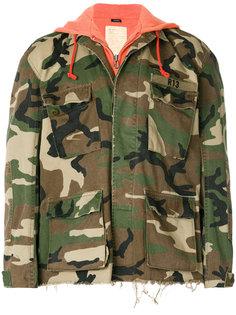 камуфляжная куртка с капюшоном R13