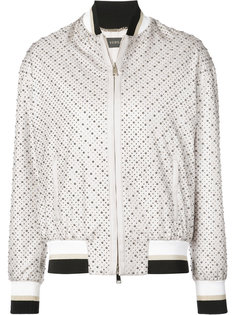 куртка-бомбер с мелкими заклепками Versace