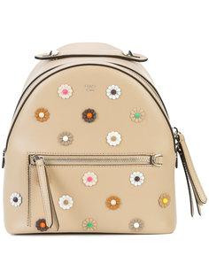 мини-рюкзак с декором в виде цветов Fendi