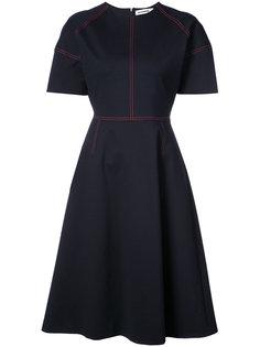 платье длины миди с контрастной строчкой Jil Sander