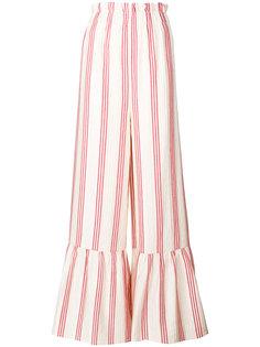 полосатые расклешенные брюки Vilshenko