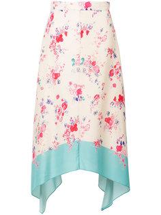 асимметричная юбка с цветочным принтом Vilshenko