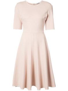платье длины миди с контрастной каймой Jil Sander