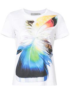 футболка с принтом в виде перьев Mary Katrantzou