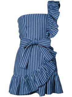полосатое платье на одно плечо Alexis