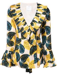блузка с рисунком пейсли и оборками C/Meo