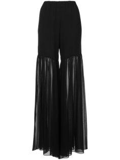 полупрозрачные брюки-палаццо с драпировками Caroline Constas