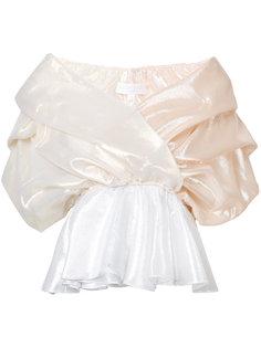 драпированная блузка из тафты Caroline Constas