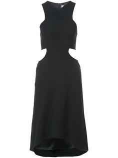 мини-платье без рукавов с вырезами на талии Halston Heritage
