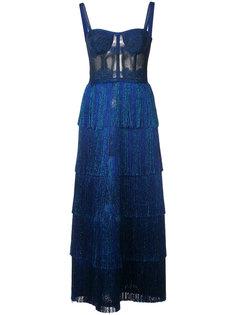 длинное платье-бюстье с люрексом Missoni