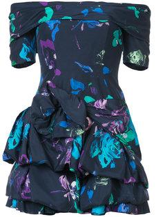 мини-платье с рисунком и оборчатой юбкой Emanuel Ungaro