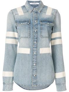 джинсовая рубашка с полосками  Givenchy
