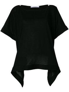 футболка с драпировкой  Givenchy