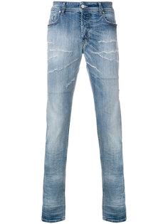 джинсы кроя слим с рваными деталями Diesel