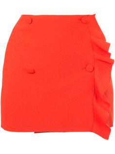 асимметричная юбка с оборкой MSGM