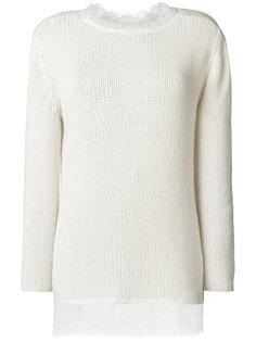 свитер с кружевными панелями Ermanno Scervino
