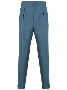 брюки строгого кроя со складками Prada