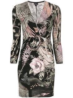 облегающее платье с V-образным вырезом Just Cavalli