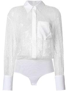 прозрачная кружевная рубашка Dondup