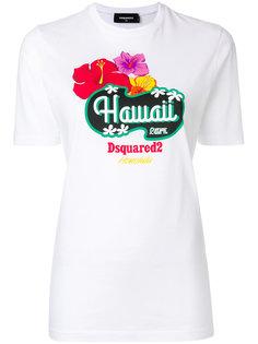 футболка с гавайским принтом Dsquared2