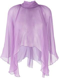 укороченная блузка с оборкой  Alberta Ferretti