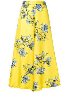 укороченные широкие брюки с растительным принтом Vivetta