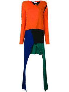 платье дизайна колор-блок с драпировкой JW Anderson