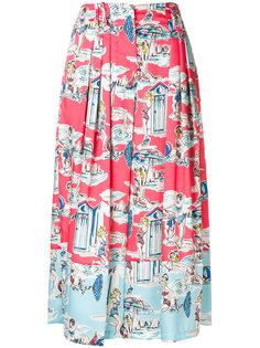 укороченные брюки с принтом Blugirl