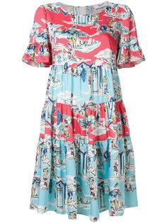 свободное платье с принтом Blugirl