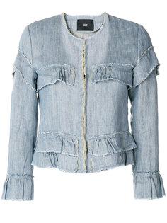 джинсовая куртка с оборками  Steffen Schraut