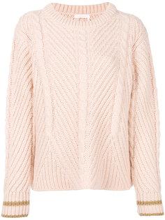 трикотажный свитер с узором косы See By Chloé