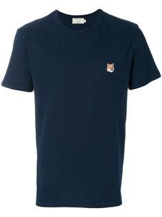 футболка с заплаткой с логотипом  Maison Kitsuné