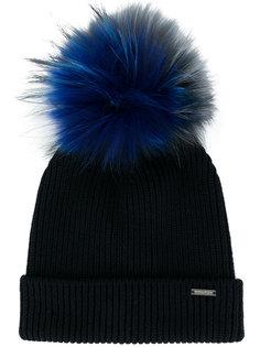 шапка-бини с ребристой фактурой и помпоном Woolrich