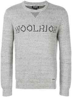 """свитер с логотипом вязки """"интарсия"""" Woolrich"""