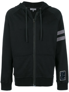 distressed stripe hoodie Lanvin