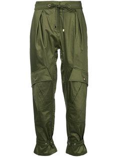 укороченные брюки с завышенной талией  Roberto Cavalli