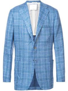 клетчатый пиджак Kiton