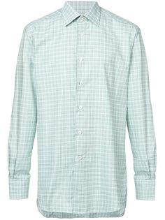 классическая клетчатая рубашка Kiton