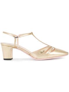 туфли с Т-образным ремешком Fendi