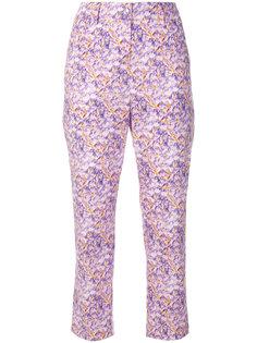 укороченные брюки с цветочным принтом  Blumarine