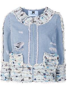 приталенная джинсовая куртка  Blumarine