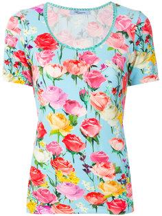 футболка с вышивкой Blumarine