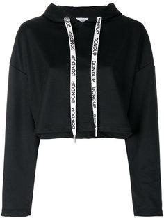 branded drawstring hoodie Dondup