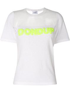 футболка с прозрачной панелью Dondup