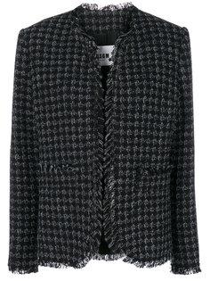 пальто в ломаную клетку  MSGM