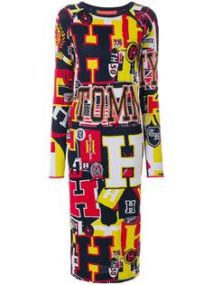 трикотажное платье миди с принтом  Tommy Hilfiger