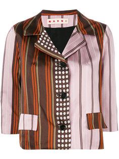 пиджак в контрастную полоску  Marni