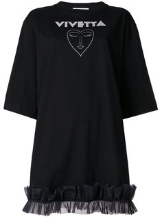 платье-футболка с принтом-логотипом  Vivetta