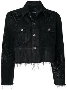 джинсовая куртка с пайетками  Diesel