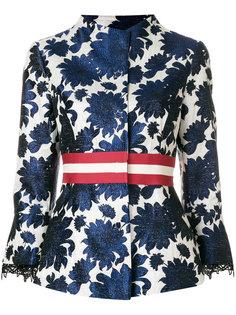 жаккардовый пиджак с цветочным узором Bazar Deluxe